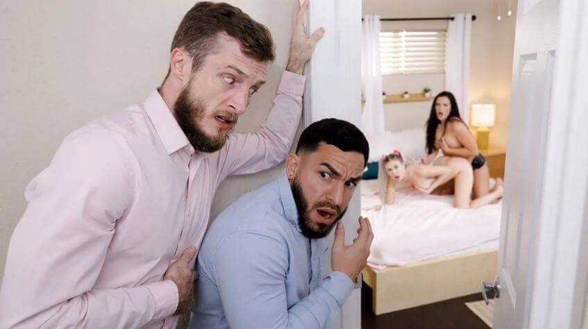 اباء يتبادلون بناتهم السحاقيات بعدما قبض عليهن يتناكو مع بعض sex