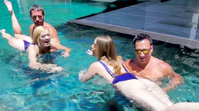 نيك بنات ساخنات في المسبح - سكس عائلي جماعي